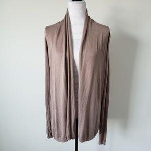 Express Brown Long Sleeve Open Cardigan Women M